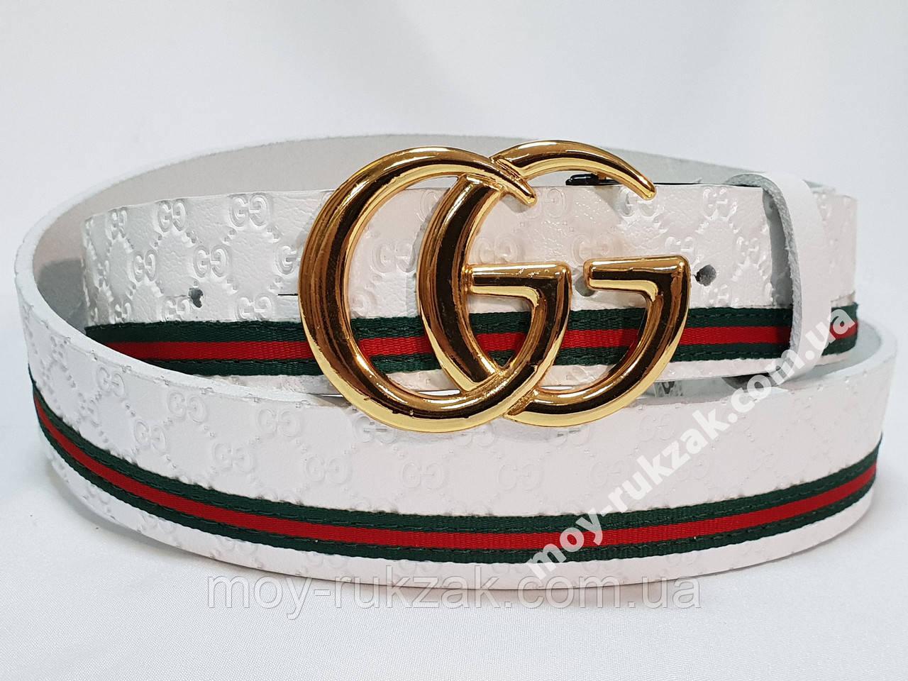 Ремень мужской кожаный Gucci ширина 40 мм., реплика арт. 930615
