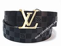 Ремень мужской кожаный Louis Vuitton ширина 40 мм., реплика арт. 930614