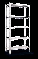 Стеллаж полочный Комби (2160х1000х400), на болтовом соединении, оцинкованный, 5 полок (металл), 120 кг/полка