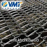 Сетка транспортерная с цепью с канилированным стержнем  Шаг цепи 12,7