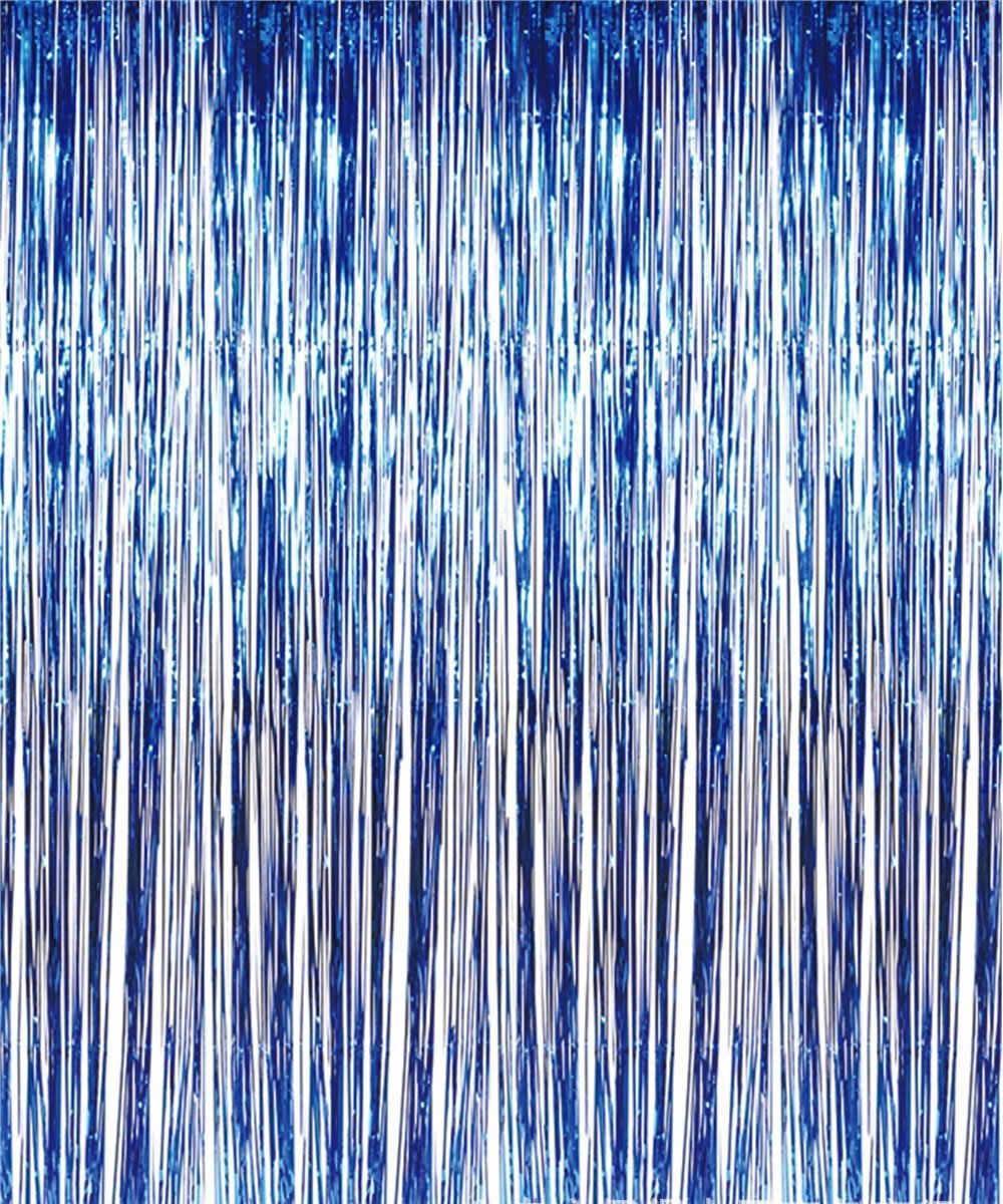 Занавес из фольги для оформления 1x2 м синий