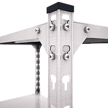 Стеллаж полочный Комби (2160х1000х500), на болтовом соединении, оцинкованный, 5 полок (металл), 120 кг/полка, фото 2