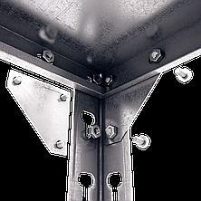 Стеллаж полочный Комби (2160х1000х500), на болтовом соединении, оцинкованный, 5 полок (металл), 120 кг/полка, фото 3