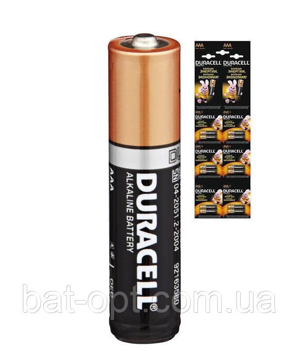 Батарейка щелочная Duracell Alkaline LR3 AAA минипальчиковая (мультикарта)