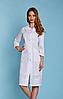 Женский медицинский халат  с вышивкой (батист)