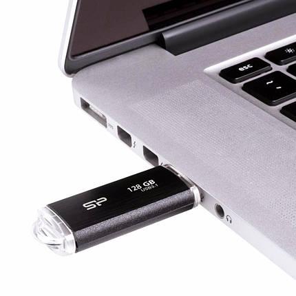 USB флеш накопитель Silicon Power 128GB Blaze B02 Black USB 3.0 (SP128GBUF3B02V1K), фото 2