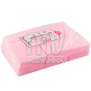 Безворсовые салфетки Special Nail 6х4см, 1000 шт плотные розовые