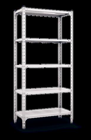 Стеллаж полочный Комби (2160х1000х600), на болтовом соединении, оцинкованный, 5 полок (металл), 120 кг/полка, фото 2