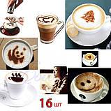 Трафареты шаблоны для капучино и кофе, фото 4
