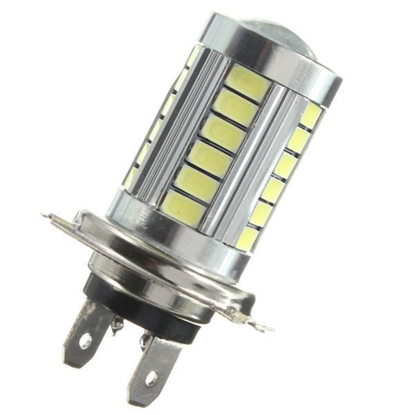 Автолампи світлодіодна H7 - 33 SMD5630 + Лінза комплект 2шт