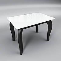 Стеклянный стол Император мини (журнальный) бело-черный
