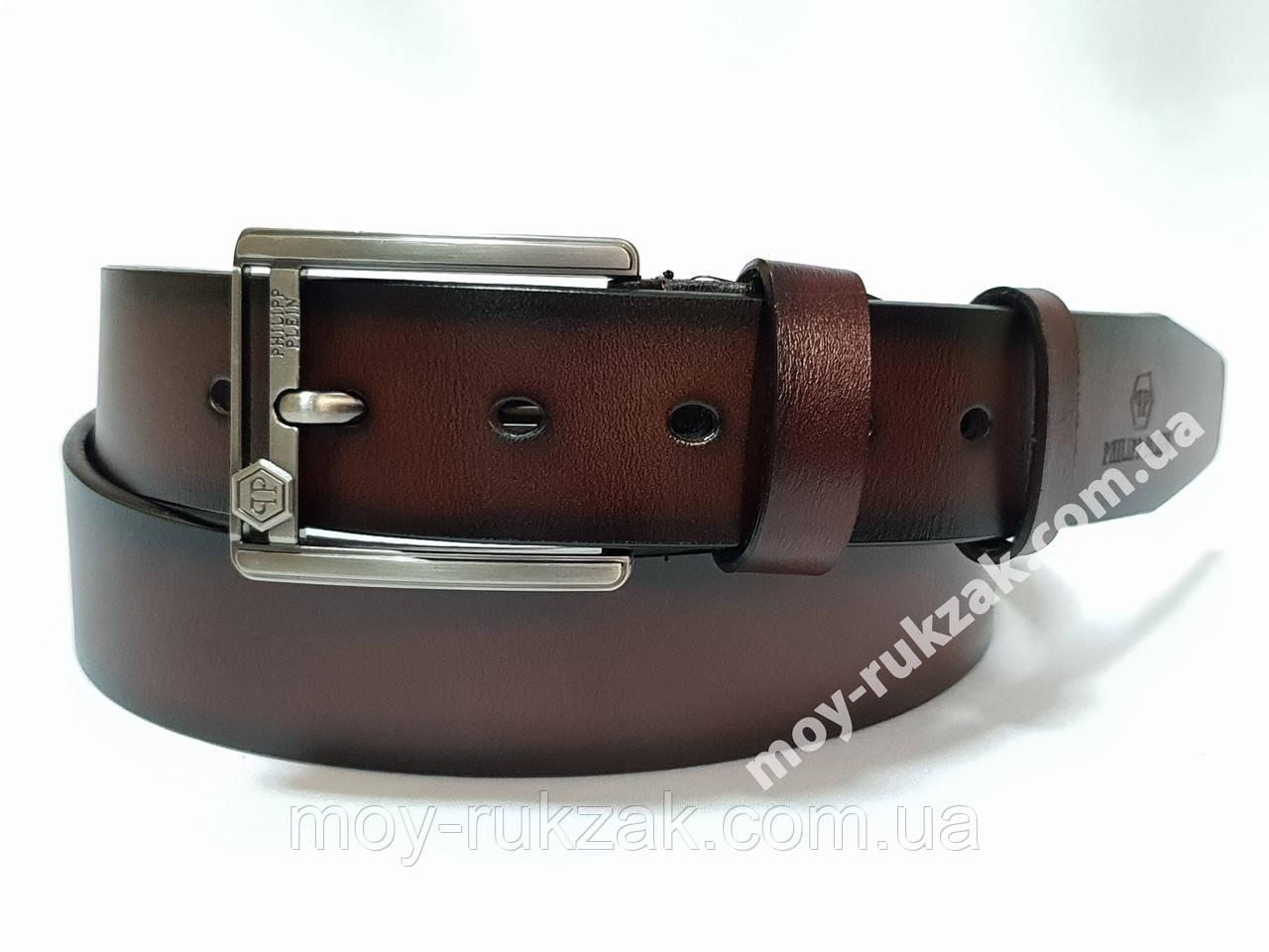 Ремень мужской кожаный Philipp Plein ширина 40 мм., реплика арт. 930628