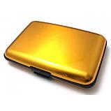 Кошелек Кредитница Aluma Wallet Gold, фото 4