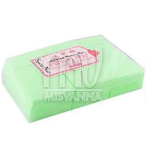 Безворсовые салфетки Special Nail 6х4см, 1000 шт плотные салатовые