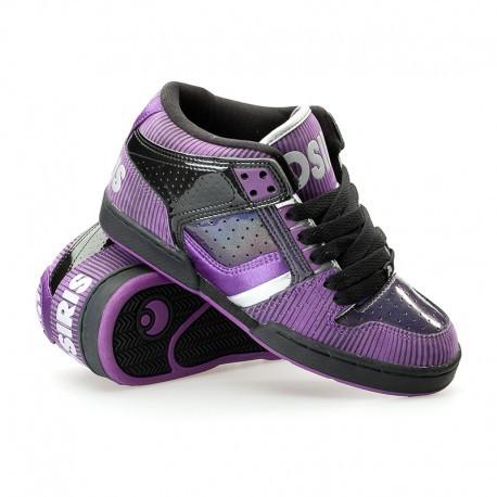 Кроссовки Osiris South Bronx grls blk/purple/sil 38 размер (24 см)