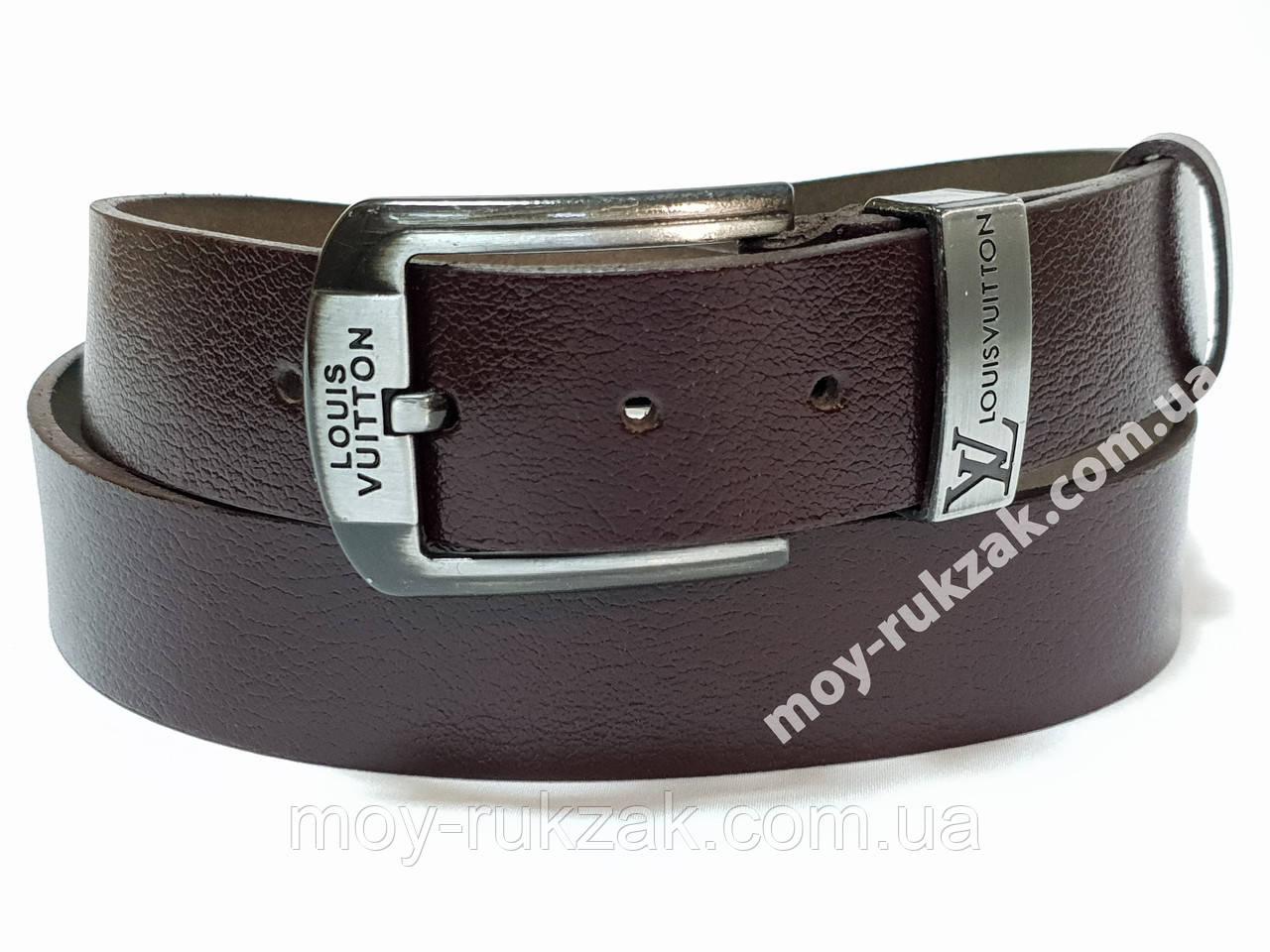 Ремень мужской кожаный Louis Vuitton ширина 40 мм., реплика арт. 930633