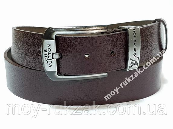 Ремень мужской кожаный Louis Vuitton ширина 40 мм., реплика арт. 930633, фото 2
