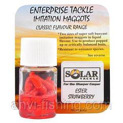 Искусственная насадка Solar -  Ester strawberry maggots red