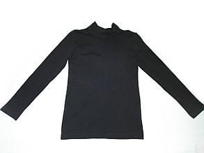 Топ футболка Фокс (длин.рукав+стойка) 34р. хлопок-92% лайкра 8% черный