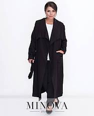 Пальто-кардиган шерсть без подкладки розовое светлое размеры: 50,52,54,56, фото 2