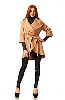Кейп женский кашемировый. Модель ПЛ0001_темный беж