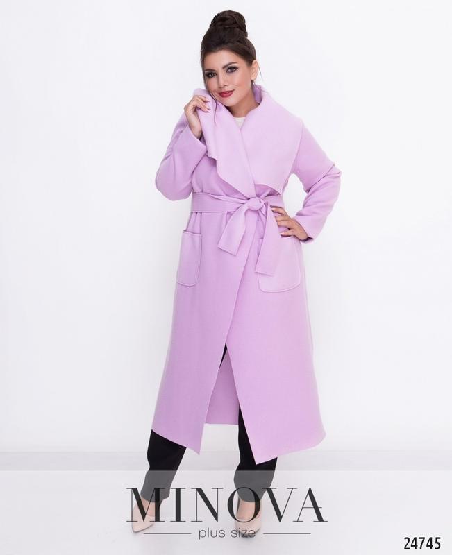 Пальто-кардиган шерсть без подкладки розовое светлое размеры: 50,52,54,56