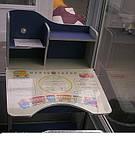 Детская парта Bambi НВ 2071-01-7 парта растишка с полочками, регулируется наклон столешницы киев, фото 2