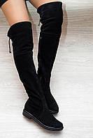 Сапожки выше колена из замша, фото 1