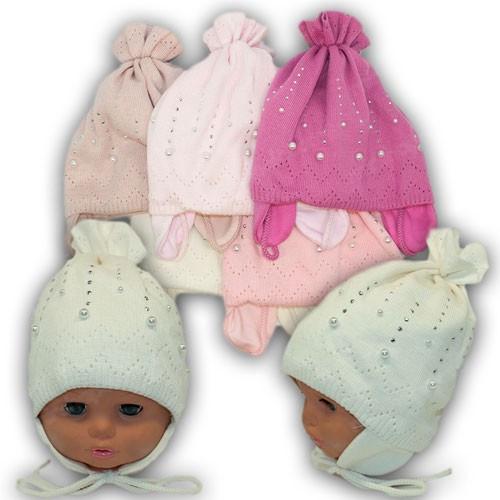 Польские детские шапки для девочки, р. 48-50