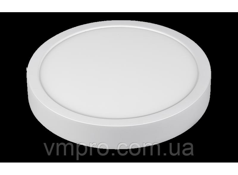 LED панель Luxel кругла, накладна, 18W 4000K (SDLR-18N)
