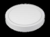LED панель Luxel кругла, накладна, 18W 4000K (SDLR-18N), фото 1