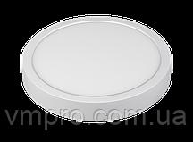 LED панель Luxel круглая, накладная, 18W 4000K (SDLR-18N)