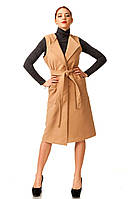 Модный удлиненный женский жилет с карманами