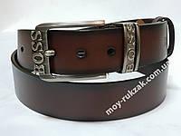 Ремень мужской кожаный Hugo Boss 40 мм., реплика арт. 930645