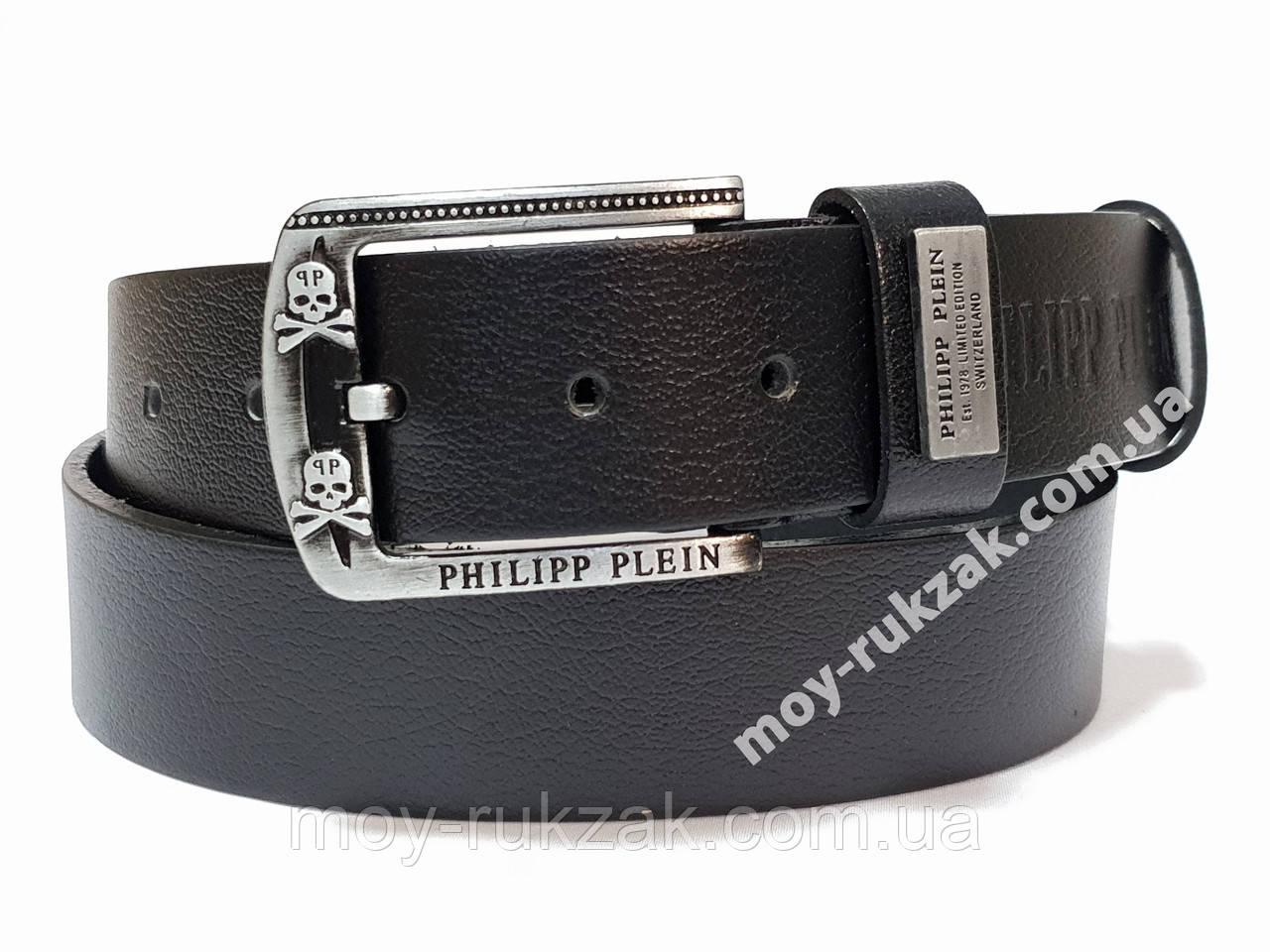 Ремень мужской кожаный Philipp Plein 40 мм., реплика арт. 930648