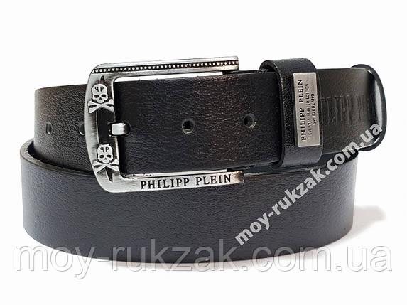 Ремень мужской кожаный Philipp Plein 40 мм., реплика арт. 930648, фото 2