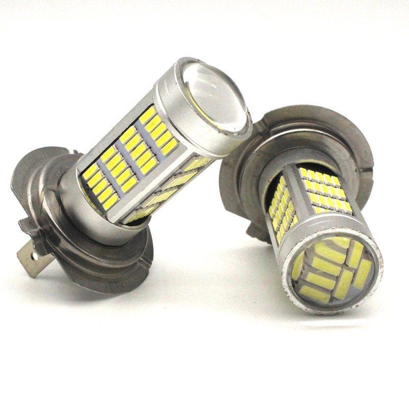 Автолампи світлодіодна H7 - 92SMD 4014 + Лінза