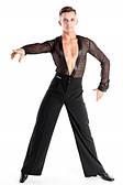 Рубашка-комбидресс мужской для танцев гипюр Латина