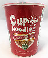 Лапша быстрого приготовления в стакане со вкусом говядины CUP Noodles 85 г, фото 1
