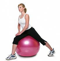 Мяч фитнес 65 см, глянец, синий, фото 3