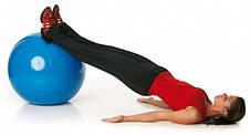 Мяч фитнес 65 см, глянец, синий, фото 2