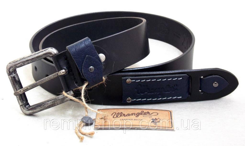Мужской кожаный ремень Wrangler для джинсов