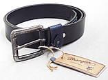Мужской кожаный ремень Wrangler для джинсов, фото 3