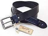 Мужской кожаный ремень Wrangler для джинсов, фото 4