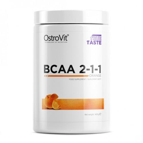Аминокислоты OstroVit - BCAA 2-1-1 (400 грамм) orange/апельсин