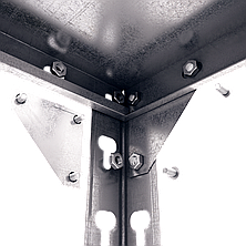 Стеллаж полочный Комби (2400х1000х500), на болтовом соединении, 5 полок (металл), 120 кг/полка, фото 3