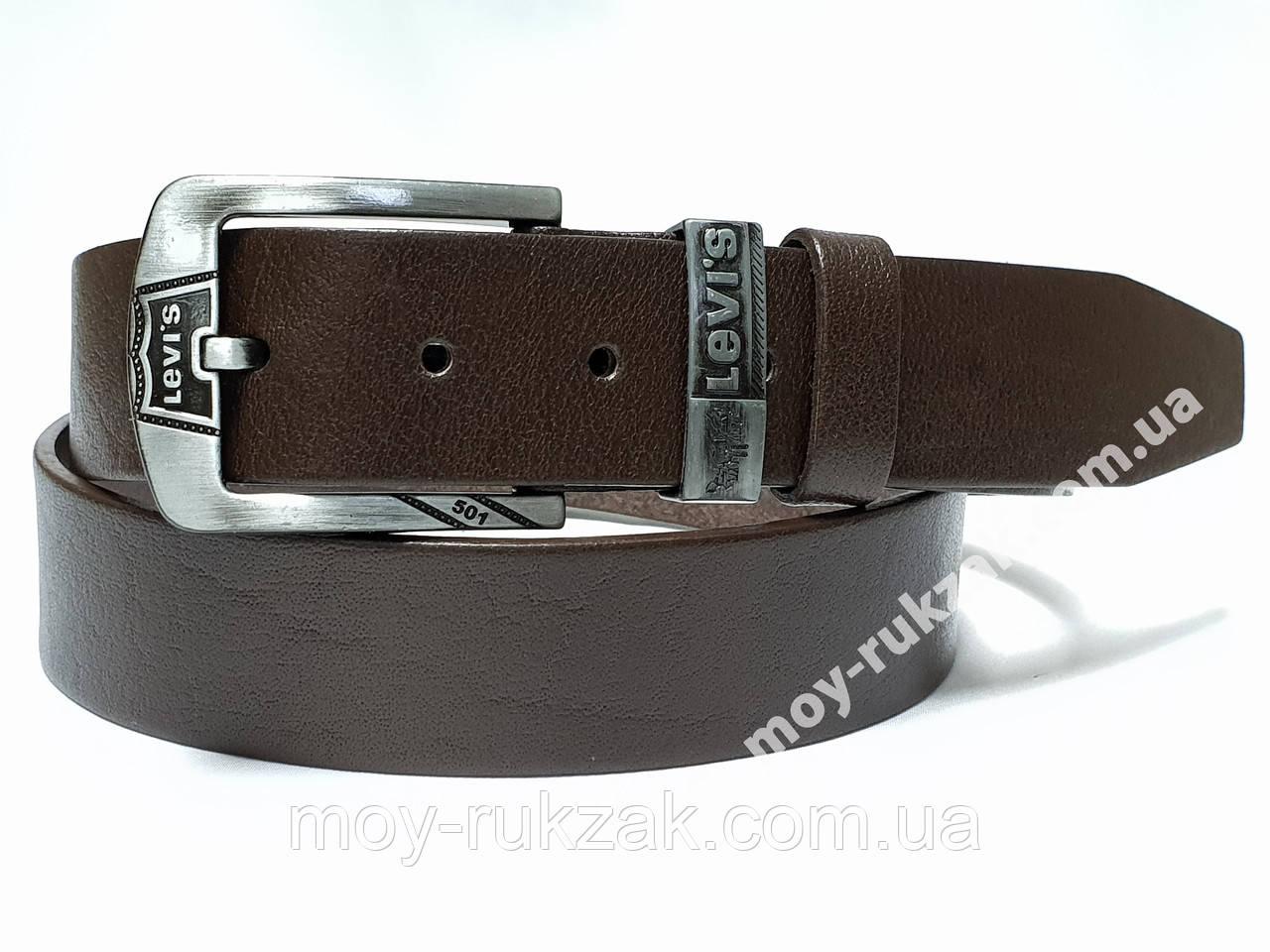 Ремень мужской кожаный Levi's 40 мм., реплика арт. 930663