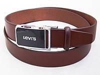 Кожаный коричневый ремень Levis, фото 1