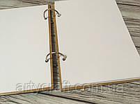 """Деревянный блокнот с гравировкой """"Лисички"""" (А5), фото 2"""