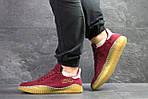 Мужские кроссовки Adidas Kamanda (Бордовые) , фото 2